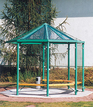 berdachung pavillons achteck. Black Bedroom Furniture Sets. Home Design Ideas